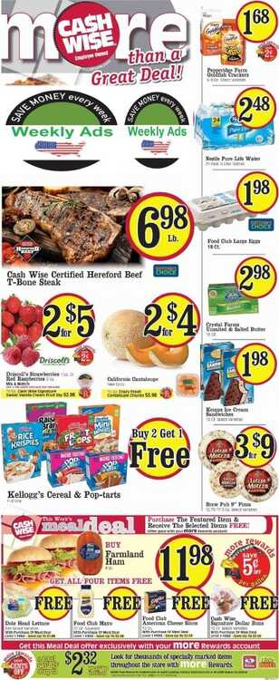 cash wise ad minot for this week valid to June 2 2018