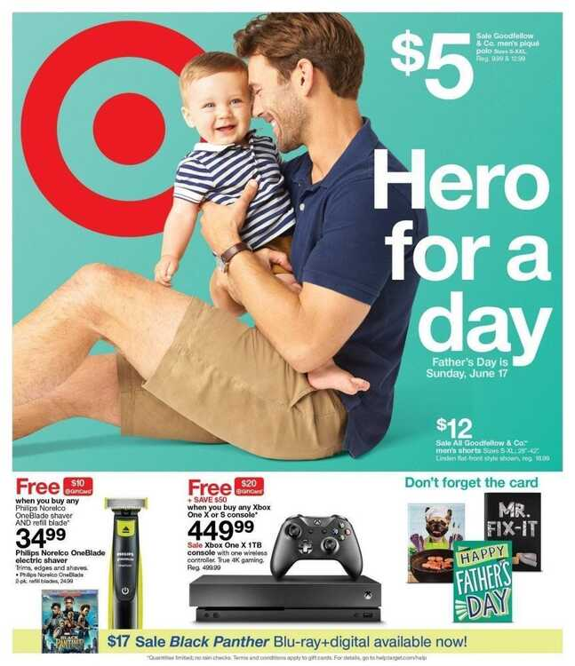 target weekly flyer ad June 13 to June 16 2018