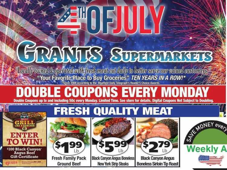 grants weekly ad 4th of july 6/1 to 6/6 2018 Most Locations