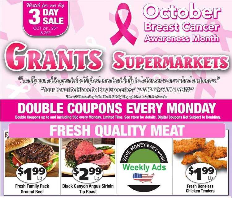 grants weekly ad october 22
