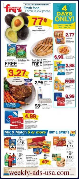 fry's weekly ad 1/25 to 1/29 2019 4 days Only! 1/24 - 1/27